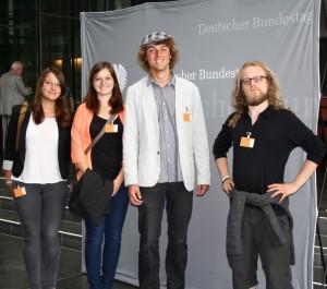 Bundessprecher vor der Bundestagspressewand