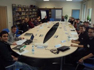 FÖJler Basti (1.v.l.) auf dem BFD-Sprechertreffen