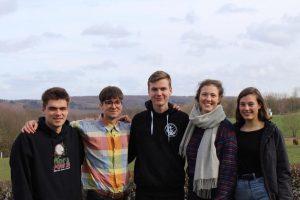 von links nach rechts, Elia, Golo, Paul, Hannah und Lea
